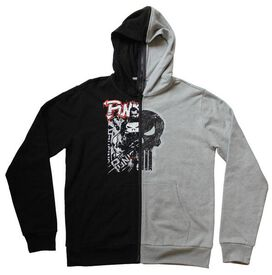 Punisher Split Zip Hoodie