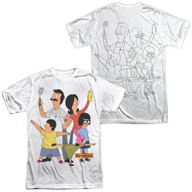 Bobs Burgers Hero Pose (Front Back Print) Short Sleeve Adult Poly Crew T-Shirt