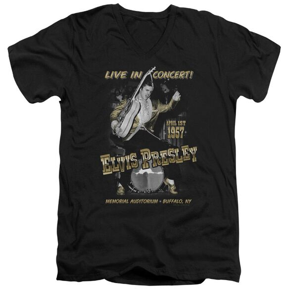 Elvis Live In Buffalo Short Sleeve Adult V Neck T-Shirt