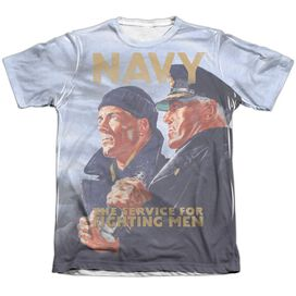 Navy Long Gaze Adult Poly Cotton Short Sleeve Tee T-Shirt