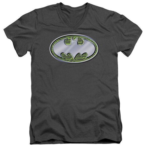 Batman Circuits Logo Short Sleeve Adult V Neck T-Shirt