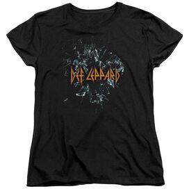 Def Leppard Broken Glass Short Sleeve Womens Tee T-Shirt