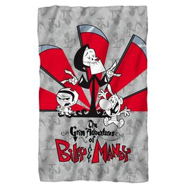 Grim Adventures Of Billy & Mandy Times Up Fleece Blanket