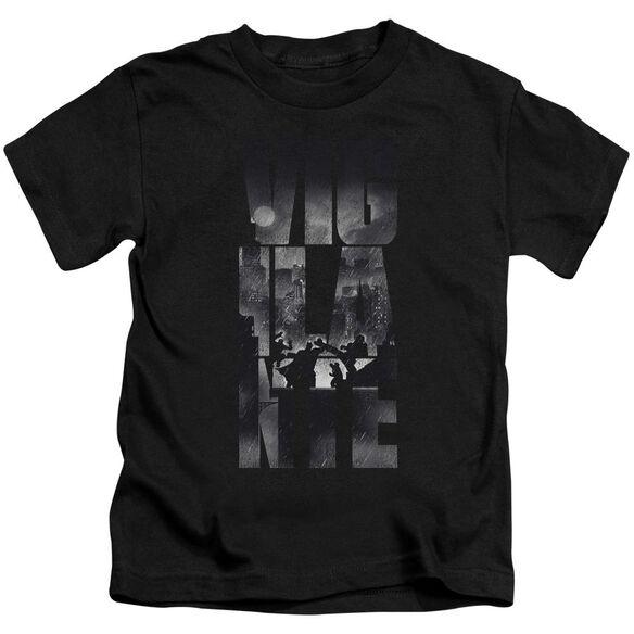 Batman V Superman Rainy Viglante Short Sleeve Juvenile Black T-Shirt