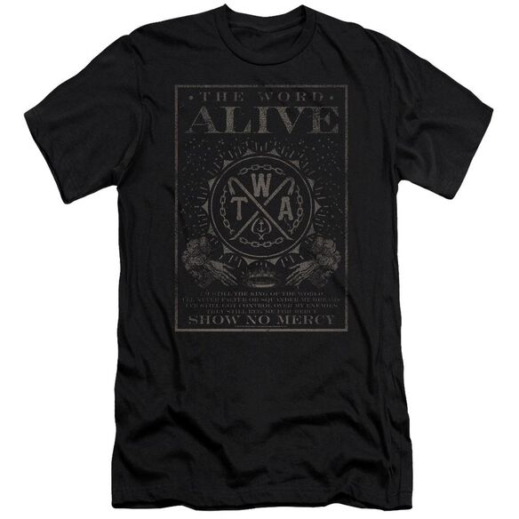 The Word Alive Show No Mercy Premuim Canvas Adult Slim Fit