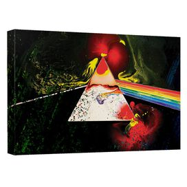 Pink Floyd Dark Side Of The Moon Canvas Wall Art With Back Board