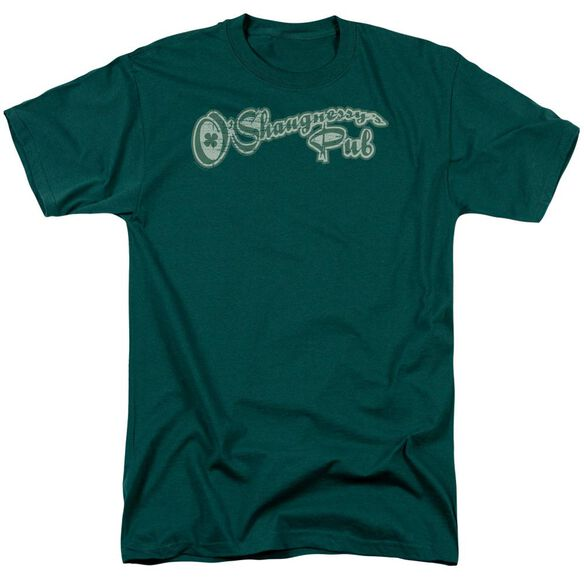 O'shaugnessy's Pub Short Sleeve Adult Hunter Green T-Shirt