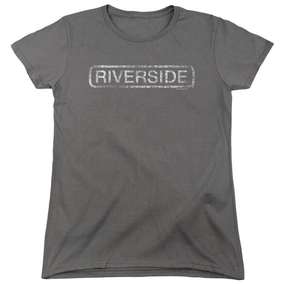 Riverside Riverside Distressed Short Sleeve Womens Tee T-Shirt