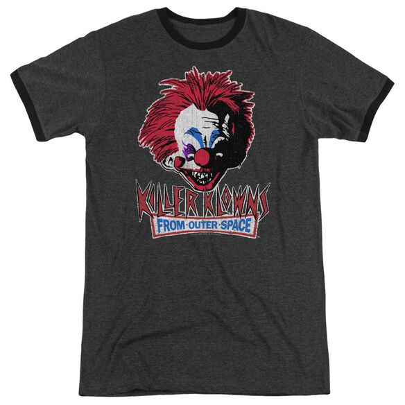 Killer Klowns From Outer Space Rough Clown Adult Heather Ringer Charcoal