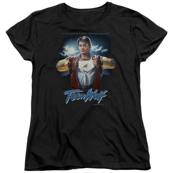 Teen Wolf Poster Short Sleeve Womens Tee T-Shirt