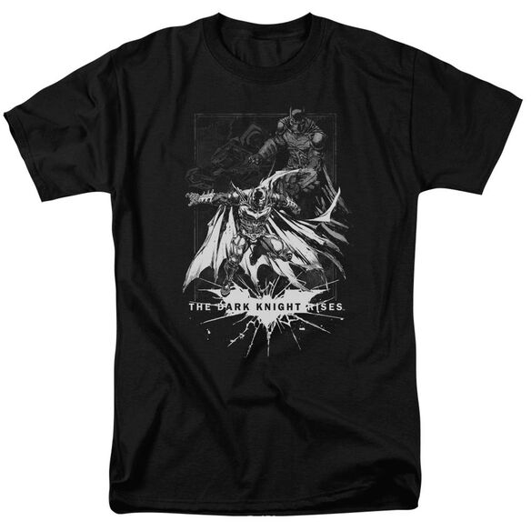 Dark Knight Rises Rising Sketch Short Sleeve Adult Black T-Shirt