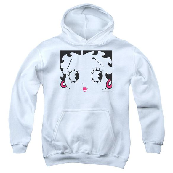 Betty Boop Close Up Youth Pull Over Hoodie