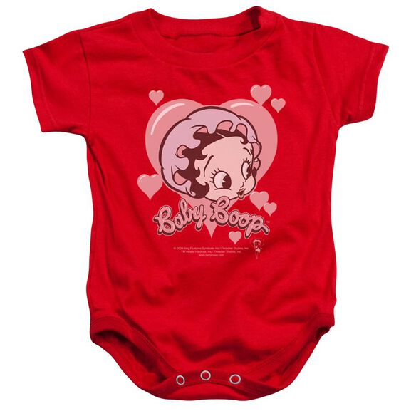 Betty Boop Baby Heart - Infant Snapsuit - Red - Md