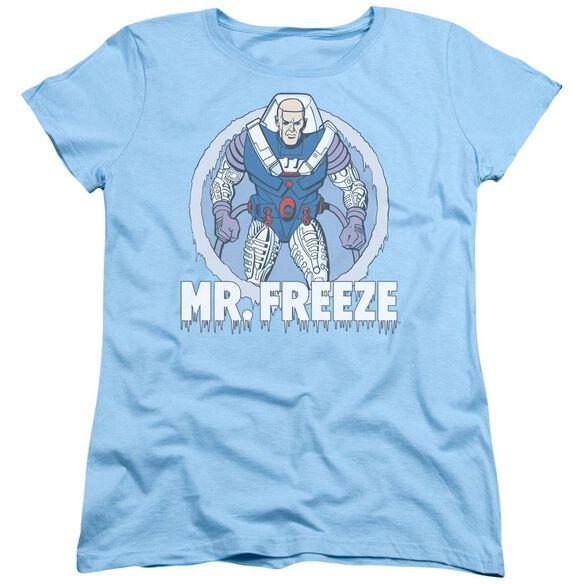 Dc Mr Freeze Short Sleeve Womens Tee Light T-Shirt
