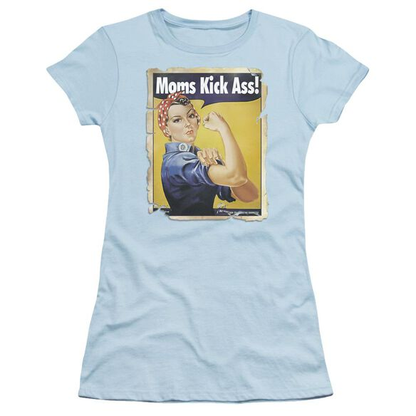 Moms Kick Short Sleeve Junior Sheer Light T-Shirt