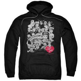 I Love Lucy 60 Years Of Fun Adult Pull Over Hoodie Black