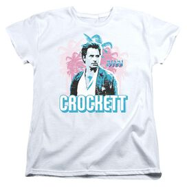 MIAMI VICE CROCKETT - S/S WOMENS TEE - WHITE T-Shirt
