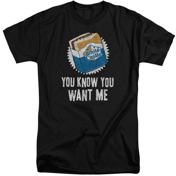 White Castle Want Me Short Sleeve Adult Tall T-Shirt