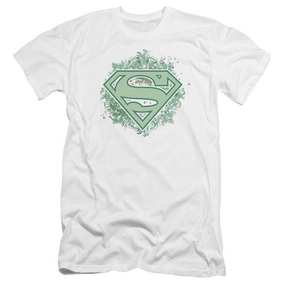 Superman Ornate Shield Premuim Canvas Adult Slim Fit
