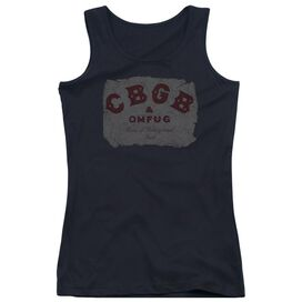 Cbgb Crumbled Logo Juniors Tank Top
