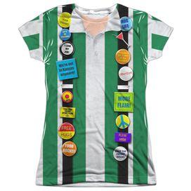 Office Space Chotchkies Costume Short Sleeve Junior Poly Crew T-Shirt