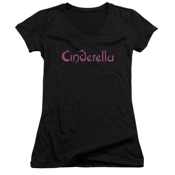 Cinderella Logo Rough Junior V Neck T-Shirt