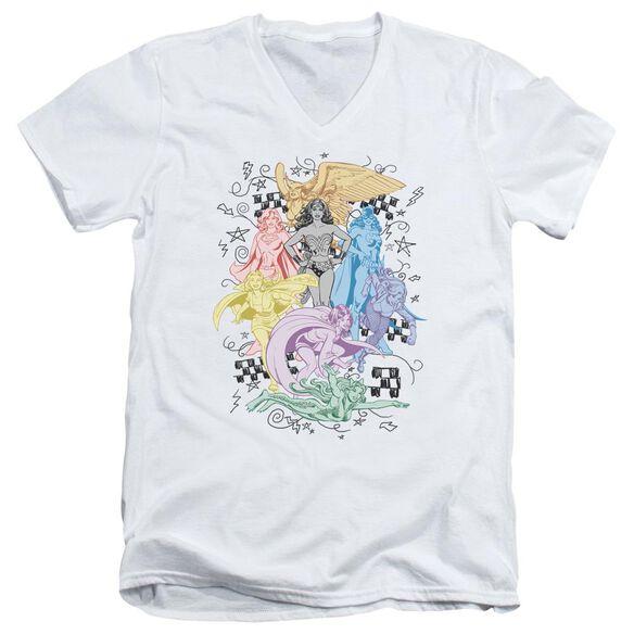 Dc Super Short Sleeve Adult V Neck T-Shirt