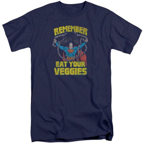 Superman Veggie Power Short Sleeve Adult Tall T-Shirt
