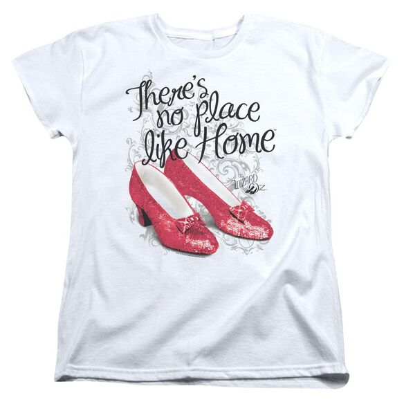 Wizard Of Oz Ruby Slippers Short Sleeve Womens Tee T-Shirt