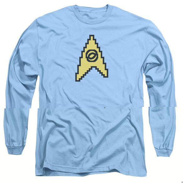 STAR TREK 8 BIT SCIENCE-L/S ADULT T-Shirt