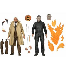 Halloween 2 Ultimate Michael Myers and Dr. Loomis 7-Inch Scale Action Figure 2-Pack