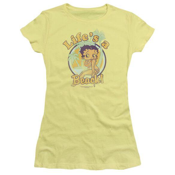 Betty Boop Life's A Beach Short Sleeve Junior Sheer T-Shirt