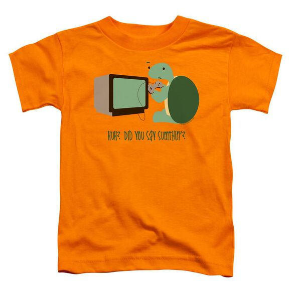 Did You Say Sumthin? Short Sleeve Toddler Tee Orange Md T-Shirt