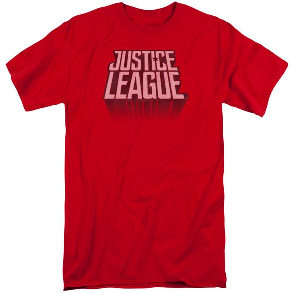 Justice League Movie League Distressed Short Sleeve Adult Tall T-Shirt