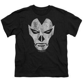 Shadowman Face Short Sleeve Youth T-Shirt