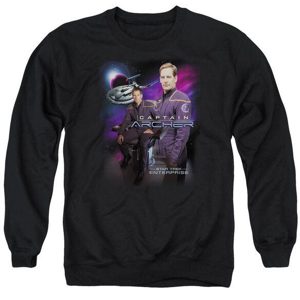 Star Trek Captain Archer Adult Crewneck Sweatshirt