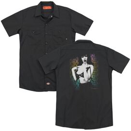 Bettie Page Oops (Back Print) Adult Work Shirt