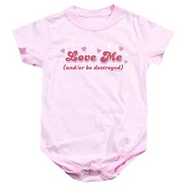 Love Me Infant Snapsuit Pink Sm