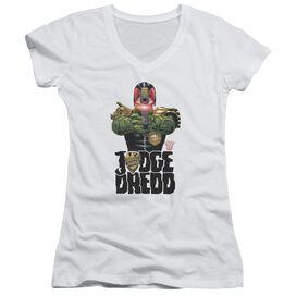 Judge Dredd In My Sights Junior V Neck T-Shirt
