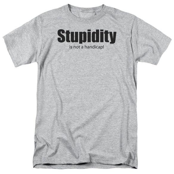 Stupidity Short Sleeve Adult Athletic Heather T-Shirt
