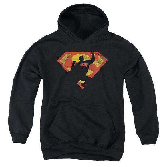Superman S Shield Knockout Youth Pull Over Hoodie