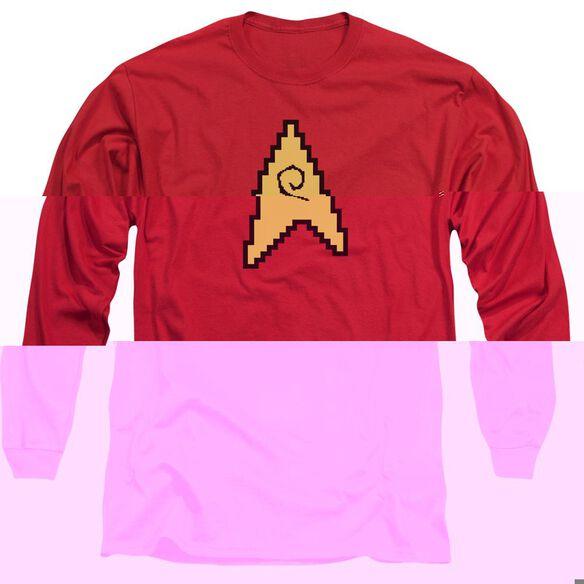 Star Trek 8 Bit Engineering Long Sleeve Adult T-Shirt