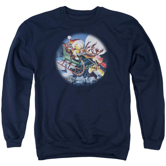Garfield Moonlight Ride Adult Crewneck Sweatshirt