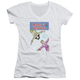 Archie Comics Cover 257 Snow Angels Junior V Neck T-Shirt