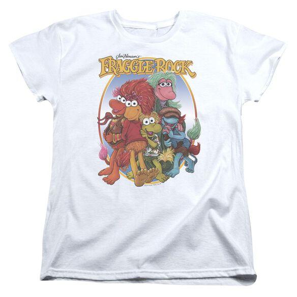 Fraggle Rock Group Hug Short Sleeve Womens Tee T-Shirt