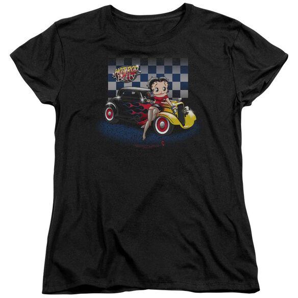 Betty Boop Hot Rod Boop Short Sleeve Womens Tee T-Shirt