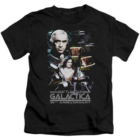 Bsg 35 Th Anniversary Collage Short Sleeve Juvenile Black T-Shirt