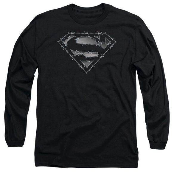 Superman Barbed Wire Long Sleeve Adult T-Shirt