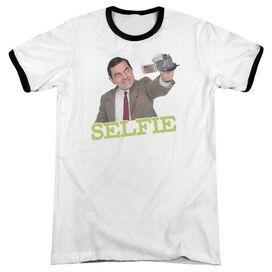 Mr Bean Selfie Adult Ringer White Black