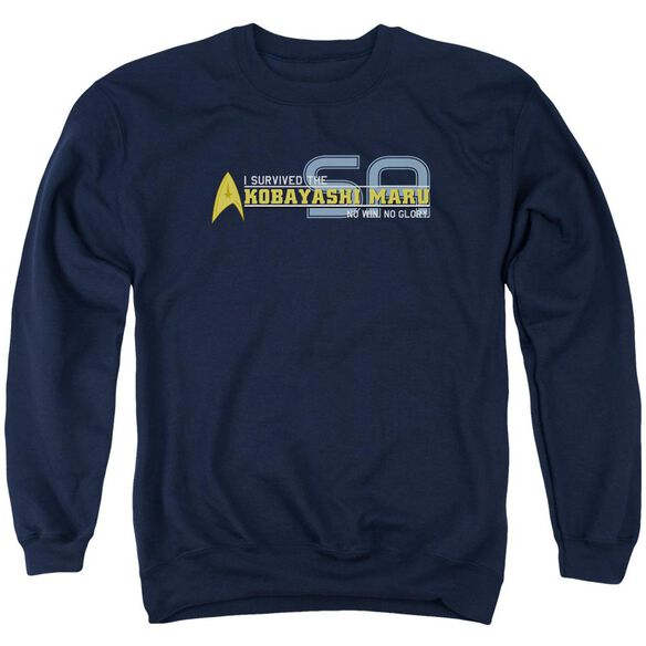 Star Trek I Survived - Adult Crewneck Sweatshirt - Navy